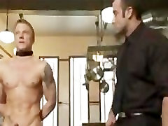 BDSM Master Trains His Gay Slave during the Diner