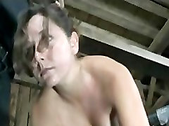 BDSM Slave Sasha Chained Whipped and Anal Hooked by Master