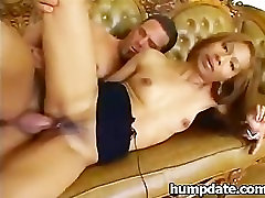 Sexy asian Lilly gets slammed hard by two guys