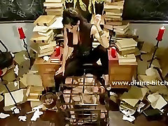 Old deserted library holds prisoner male sex slave for the pleasu
