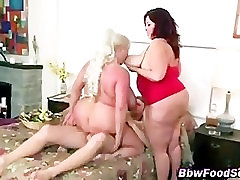 Two busty bbws get a cumshot