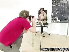 Mature brit femdom posing for the camera