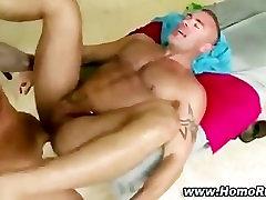Muscley gay bear masseuse turns straighty