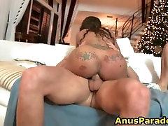 Lucky guy gets to fuck black slut part3