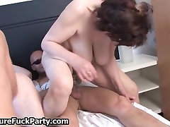 Fat old slut withs big tits getting part6