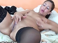 Thick mature housewife in sexy black part5