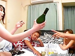Japanese redhead gets pussy licked part4