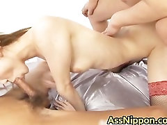 Horny Asian Babe gets Pussy and Anus part2