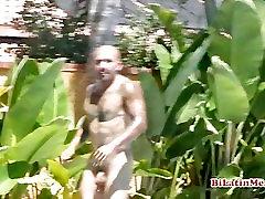 Nude Latino with tattoos big dick