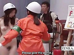 Subtitled nudist Japanese ENF bizarre fire safety class