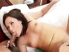AMWF Sindee Jennings interracial with Asian guy