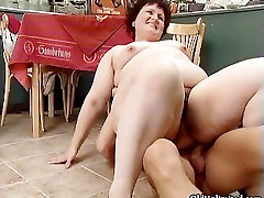 Nasty fat woman goes crazy riding part5
