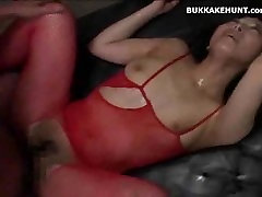 Asian Teen and Lots and Lots of Cumshots