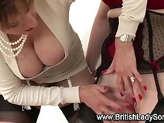 Mature lesbian in stockings Lady Sonia