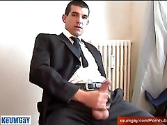 Ill sign this contract only if i can wank your huge cock of straight guy !