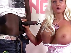 Big-tits blonde anal fuck
