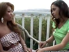 Step Siblings Latina teen lick fingers ebony twat
