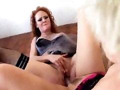 Alt Lesbians Spit Dildo Fuck.