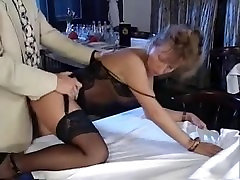 Mature Mom lingerie anal