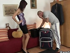 His GF is cheap slut and he bangs her rough
