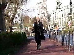 Monique Vegas smoking in black leather