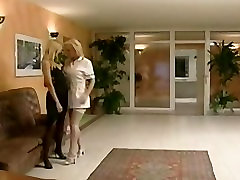 Lesbian nurse licking and fingering pussy