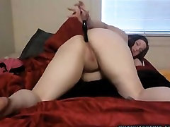 Busty big tit curvy bbw fucks her pussy and her ass dp