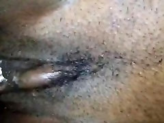 Creamy ebony pussy