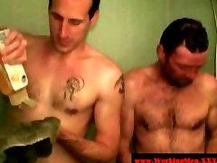 Straight redneck mature bears showering