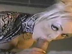 Classic MILF Houston sucking cock