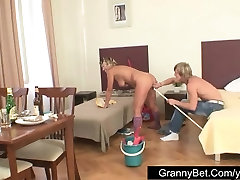 Mature lady fucked hard by young guy
