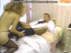 Vintage blonde riding big dick