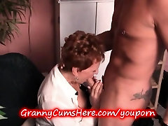 OLD GRANNY gets some YOUNG COCK