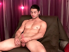 str8 gorgeous soccer player with huge muscle,big thighs,bubble butt and big cock, lets me lube him.