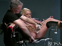 BDSM XXX Defiant sub gets Masters wrath before squirting all over the dungeon floor