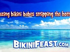 Asian Babe In A Bikini Displays Her Body