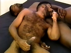Horny black lovers putting their mouths to work on each others dicks
