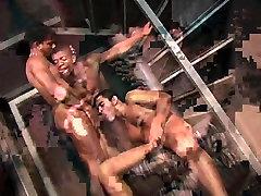 Hung Latinos Enjoy Gay Group Sex