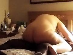Big ass BBW riding big black cock
