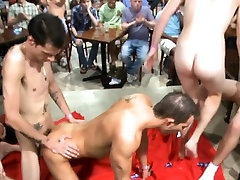 Engulfing a huge stripper one-eyed monster for his birthday