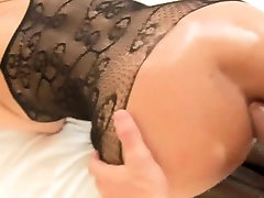 Sexy shemale in stockings getting anal