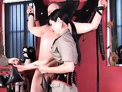 Femdoms flogging tiedup submissive