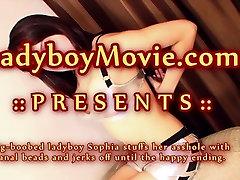 Phuket Ladyboy Sophia with anal beads