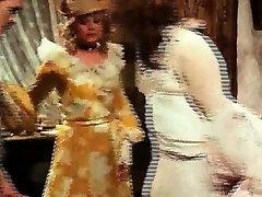 Slutty Bavarian chicks sharing dick in retro video