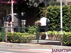 Nippon tiny schoolgirl pussylicked by stranger