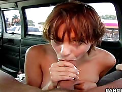 Short haired girl picked up and fucked