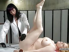 Slave girl gets a deep examination from Lesbian Doctor