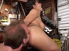 Big tits latina sucking cock