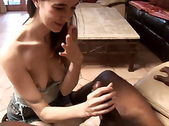 Teen fits a big black cock in her mouth
