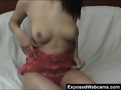 Hot Young Slut Showing Her Tits On Cam